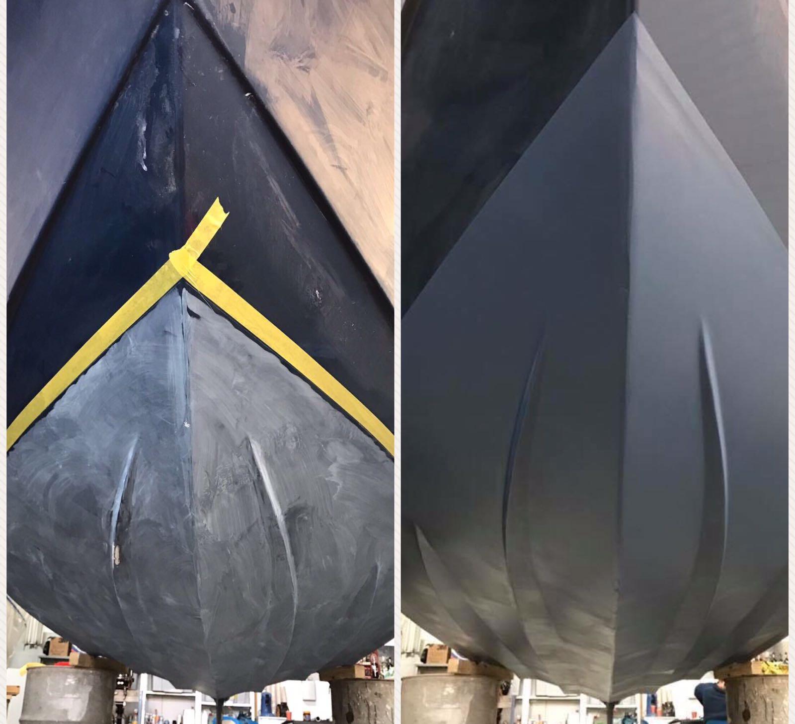 Antifouling aanbrengen polyester boot